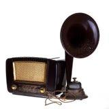 Haut-parleur par radio de withou de cru Photographie stock libre de droits