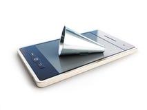 Haut-parleur pour le téléphone portable Images libres de droits