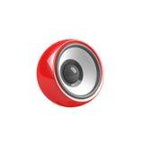 Haut-parleur rouge d'isolement Photos stock