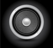 Haut-parleur simple, woofer acoustique Image libre de droits