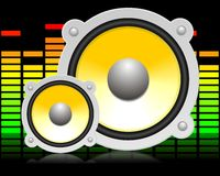 Haut-parleur sonore Photo stock