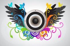 Haut-parleur sonore floral illustration stock