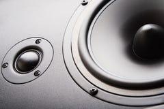 Haut-parleur sonore. Le matériel musical images stock