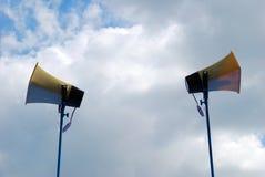 Haut-parleur sur la pipe. photo stock
