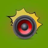 Haut-parleur sur le fond de bruit-art Image stock