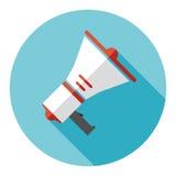 Haut-parleur sur un fond bleu avec une ombre illustration libre de droits