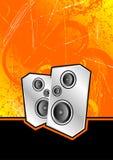Haut-parleurs argentés de club Image stock