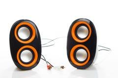 Haut-parleurs audio d'isolement Images stock