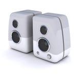 Haut-parleurs blancs Photographie stock