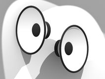 Haut-parleurs blancs Photo stock