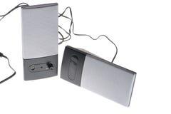 haut-parleurs blancs Photos stock