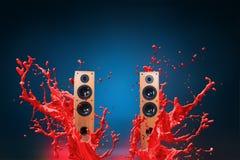 Haut-parleurs bruyants de puissance élevée Photos stock