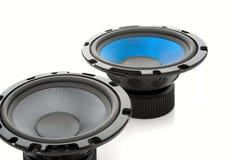 haut-parleurs d'isolement sonores blancs Image libre de droits