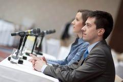 Haut-parleurs de conférence d'affaires image stock
