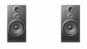 Haut-parleurs de haute qualité Système de son de haute fidélité dans le magasin pour le studio d'enregistrement sonore Boîte de h images stock