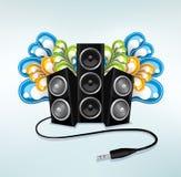 Haut-parleurs de musique en mode de réception Photos libres de droits