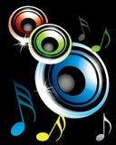 Haut-parleurs et symphonie Image libre de droits