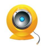 Haut-parleurs jaunes de haute fidélité Photographie stock