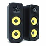 Haut-parleurs modernes de bruit de puissance Photo stock
