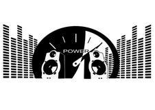 Haut-parleurs puissants illustration libre de droits
