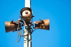 Haut-parleurs rouillés Photo stock