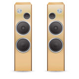 Haut-parleurs sonores en bois Photo stock