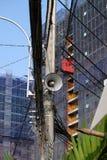 Haut-parleurs sur le courrier électrique Images stock
