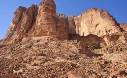 Haut plan rapproché rouge de roches Image libre de droits