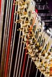 Haut proche d'harpe image stock