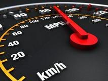Haut proche d'indicateur de vitesse Photographie stock libre de droits