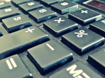 Haut proche de calculatrice Image libre de droits