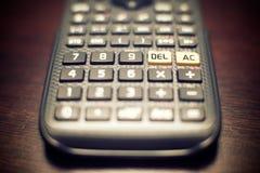 Haut proche de calculatrice Photographie stock