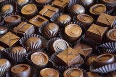 Haut proche de chocolat Photo stock
