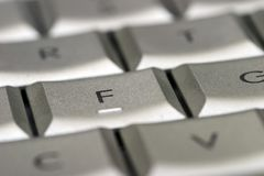 Haut proche de clavier Image libre de droits