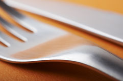 Haut proche de fourchette Image stock