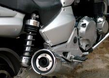 Haut proche de motocyclette Images stock