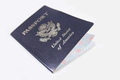 Haut proche de passeport Photographie stock libre de droits