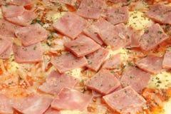 Haut proche de pizza photographie stock