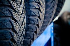 Haut proche de pneu Photographie stock