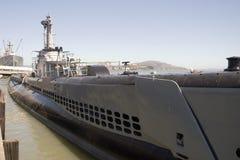 Haut proche de sous-marin Photos stock