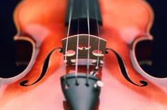 Haut proche de violon Photographie stock