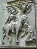 Haut-reliëf bij de het westendeur van de Kathedraal van St Vitus Royalty-vrije Stock Foto