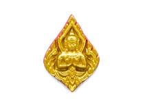 Haut-reliëf gouden beeldhouwwerk Royalty-vrije Stock Foto's