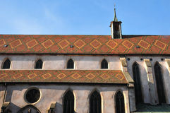 Haut Rhin,美丽如画的市里博维尔在阿尔萨斯 免版税库存图片