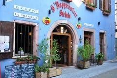 Haut Rhin,美丽如画的市里博维尔在阿尔萨斯 免版税图库摄影