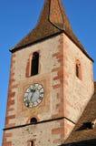 Haut Rhin, den pittoreska byn av Hunawihr i Alsace Royaltyfri Bild