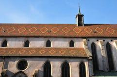 Haut Rhin, den pittoreska staden av Ribeauville i Alsace Royaltyfri Bild