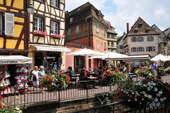 Haut Rhin, the picturesque city of Colmar in Alsace Stock Photography