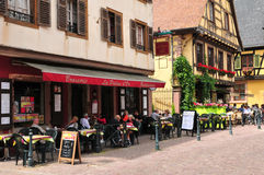 Haut Rhin, the picturesque city of Kaysersberg in Alsace Royalty Free Stock Photography