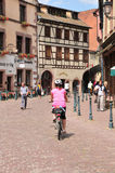 Haut Rhin, the picturesque city of Kaysersberg in Alsace Stock Images